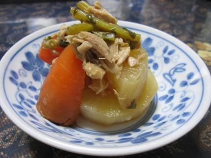 preser cooking daikon